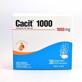 Cacit 1000mg - 30 comprimés effervescents - warner chilcott -193985