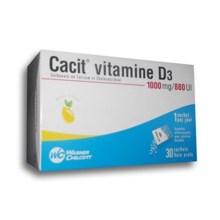 Cacit vitamine d3 1000mg - 30 sachets Warner chilcott-192272