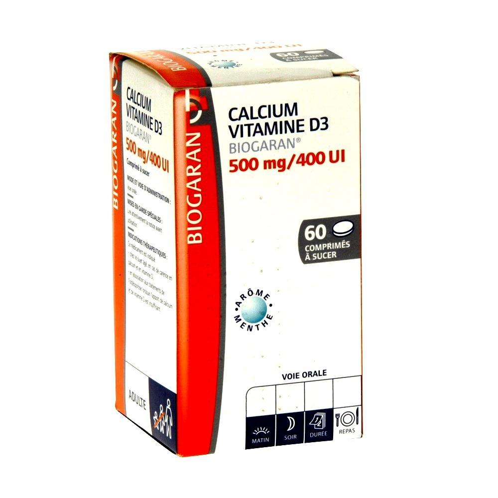 Calcium vitamine d3 500mg - 60 comprimés - biogaran -206939