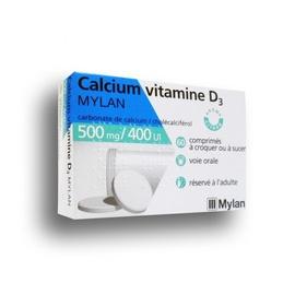 Calcium vitamine d3 500mg - 60 comprimés - mylan -206940