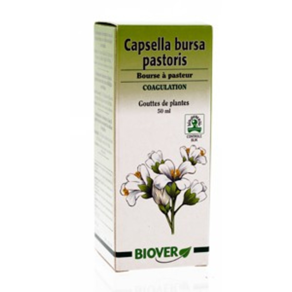 Capsella bursa pastoris (bourse à pasteur) bio - 50.0 ml - gouttes de plantes - teintures mères - biover Saignements du nez-8955