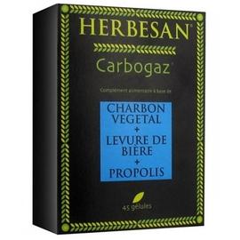Carbogaz 45 gélules - 45.0 unites - transit - digestion - herbesan Charbon vegetal - levure de bière - propolis-132397
