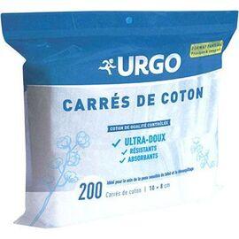 Carrés de coton 8x10cm non stérile 200 unités - urgo -226088