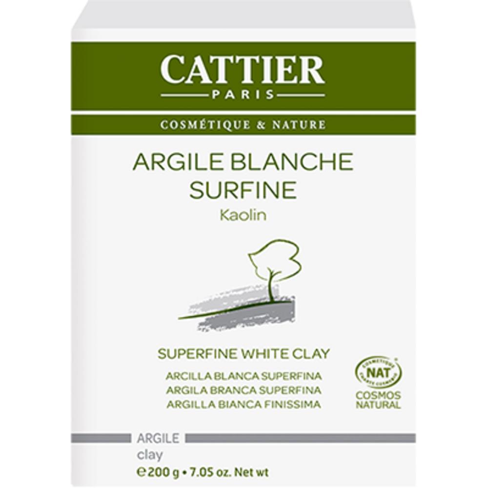Cattier argile surfine blanche bio 200g - 200.0 g - vrac - cattier Peaux sèches et fragiles-1485