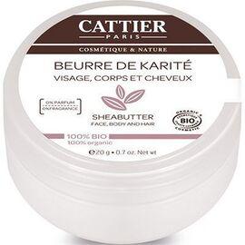 Cattier beurre de karité nature bio 100g - 100.0 g - beurre de karité - cattier Nourrit et hydrate-1560