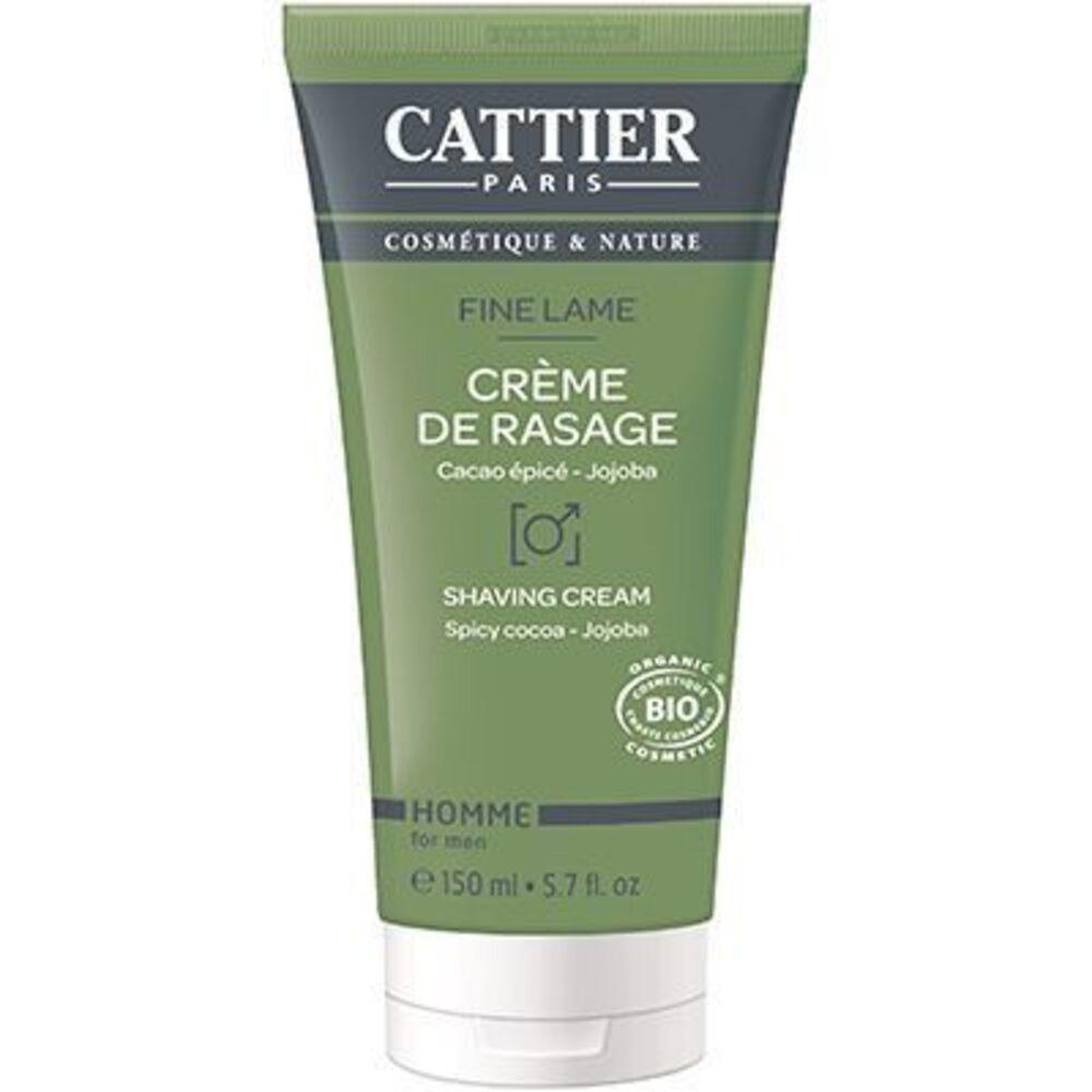 Cattier crème de rasage homme bio 150ml - 150.0 ml - homme - cattier -141870
