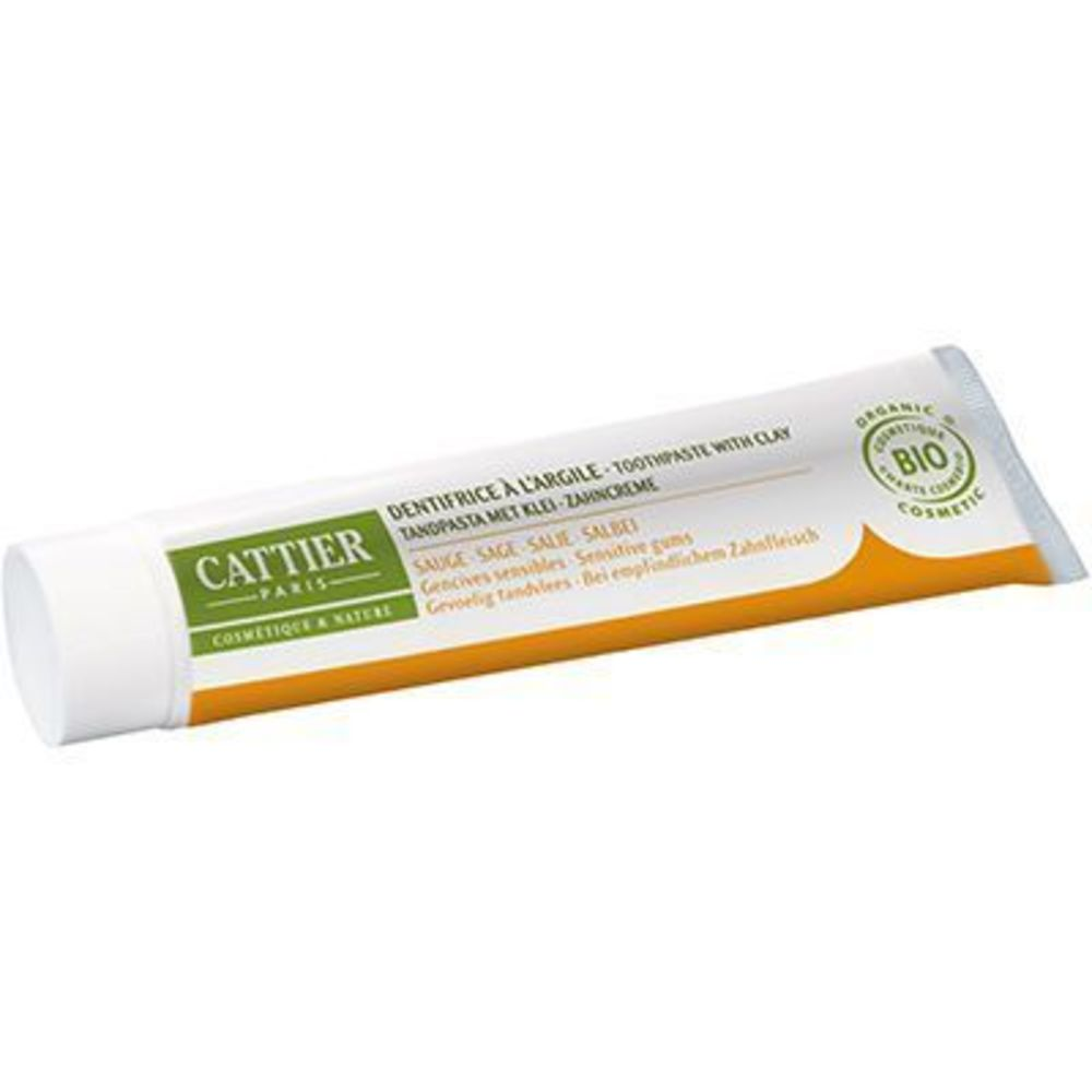 Cattier dentargile sauge bio 75ml - 75.0 ml - dentargile - cattier Gencives douloureuses-1508