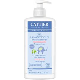 Cattier gel lavant doux bébé bio 500ml - cattier -226154