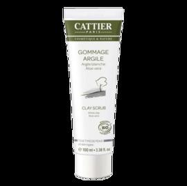 Cattier gommage argile blanche bio 100ml - 100.0 ml - hygiène corps - cattier Soin douceur exfoliant-1498