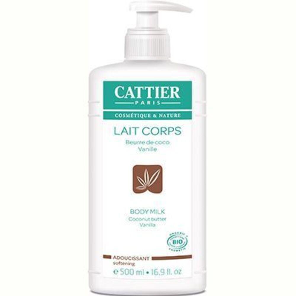 Cattier lait corps adoucissant coco vanille bio 500ml - 500.0 ml - lait corps hydratant - cattier Hydrate et adoucit l'épiderme-1530