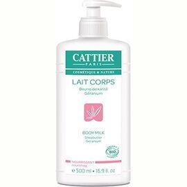 Cattier lait corps nourrissant karité géranium bio 500ml - 500.0 ml - lait corps hydratant - cattier Apaise et nourrit-1529