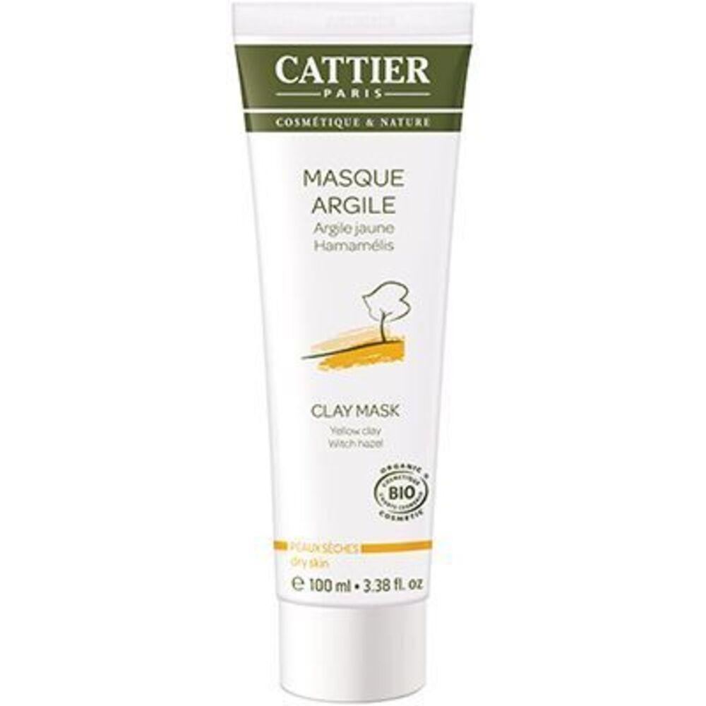 Cattier masque argile jaune bio 100ml - 100.0 ml - hygiène corps - cattier Soin douceur tonifiant-1497