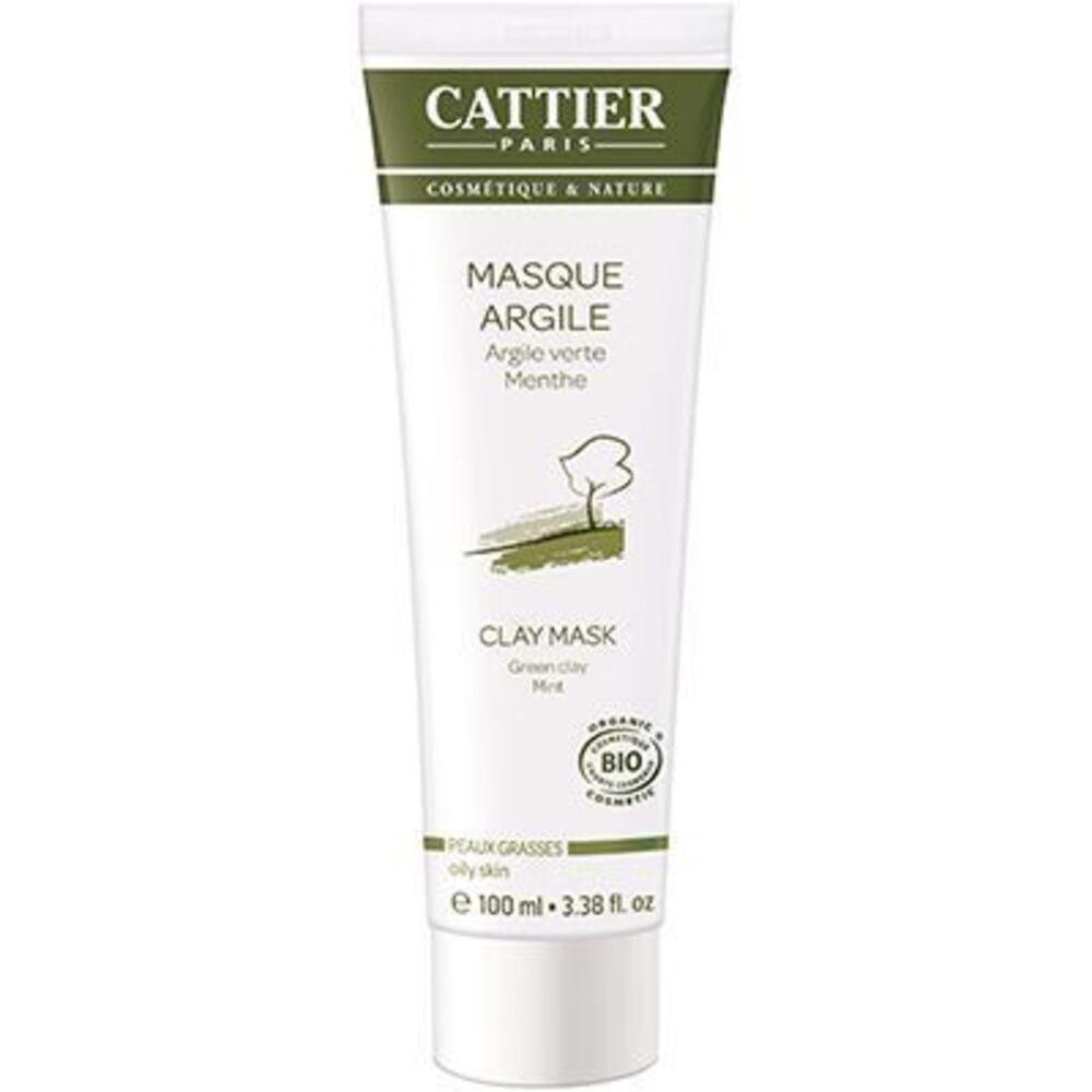 Cattier masque argile verte bio 100ml - 100.0 ml - hygiène corps - cattier Soin douceur purifiant-1496