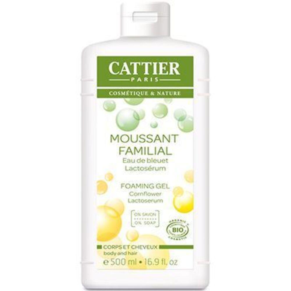 Cattier moussant familial bio 500ml - 500.0 ml - gels douche - cattier Corps et cheveux-1521