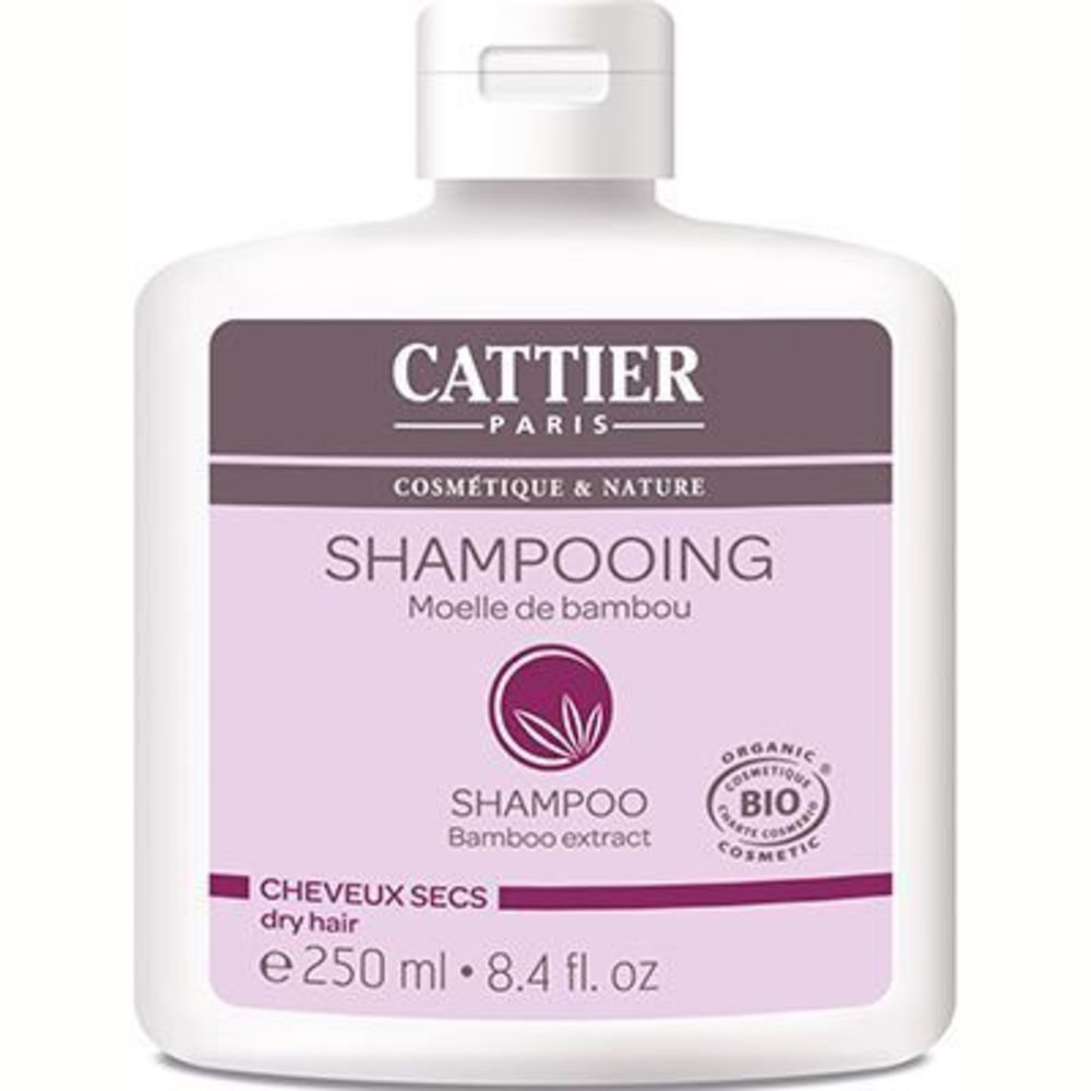 Cattier shampooing cheveux secs moëlle de bambou bio 250ml - 250.0 ml - shampooings - cattier Cheveux secs-1514