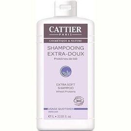 Cattier shampooing extra doux quotidien bio 1l - 1000.0 ml - shampooings - cattier Extra doux-8298