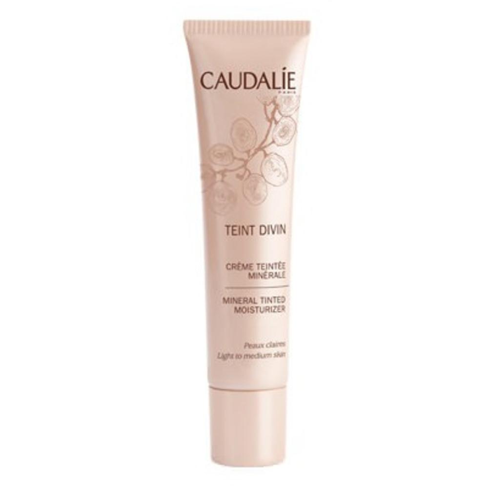 Caudalie crème teintée minérale peaux claires - 30.0 ml - teint divin - caudalie -129197