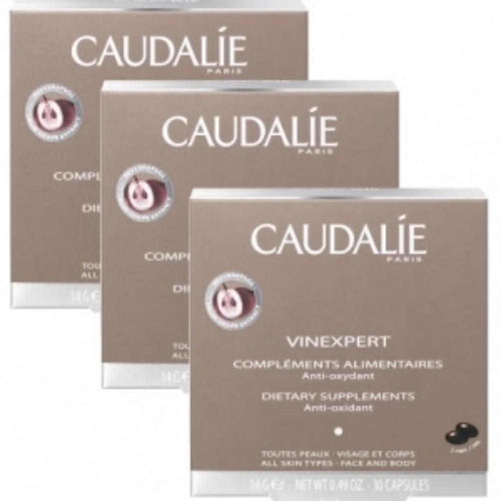 Caudalie vinexpert compléments alimentaires lot de 3 - 30.0 unites - vinexpert - caudalie Pour les peaux dévitalisées, fatiguée...-16391