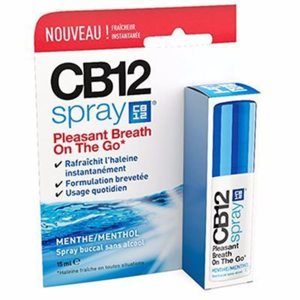 CB12 Spray Buccal Sans Alcool Menthe 15ml - Cb12 -216031
