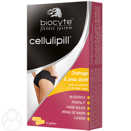 Cellulipill - 60 gélules - 60.0 unites - minceur - biocyte Cellulite et rétention d'eau-13477