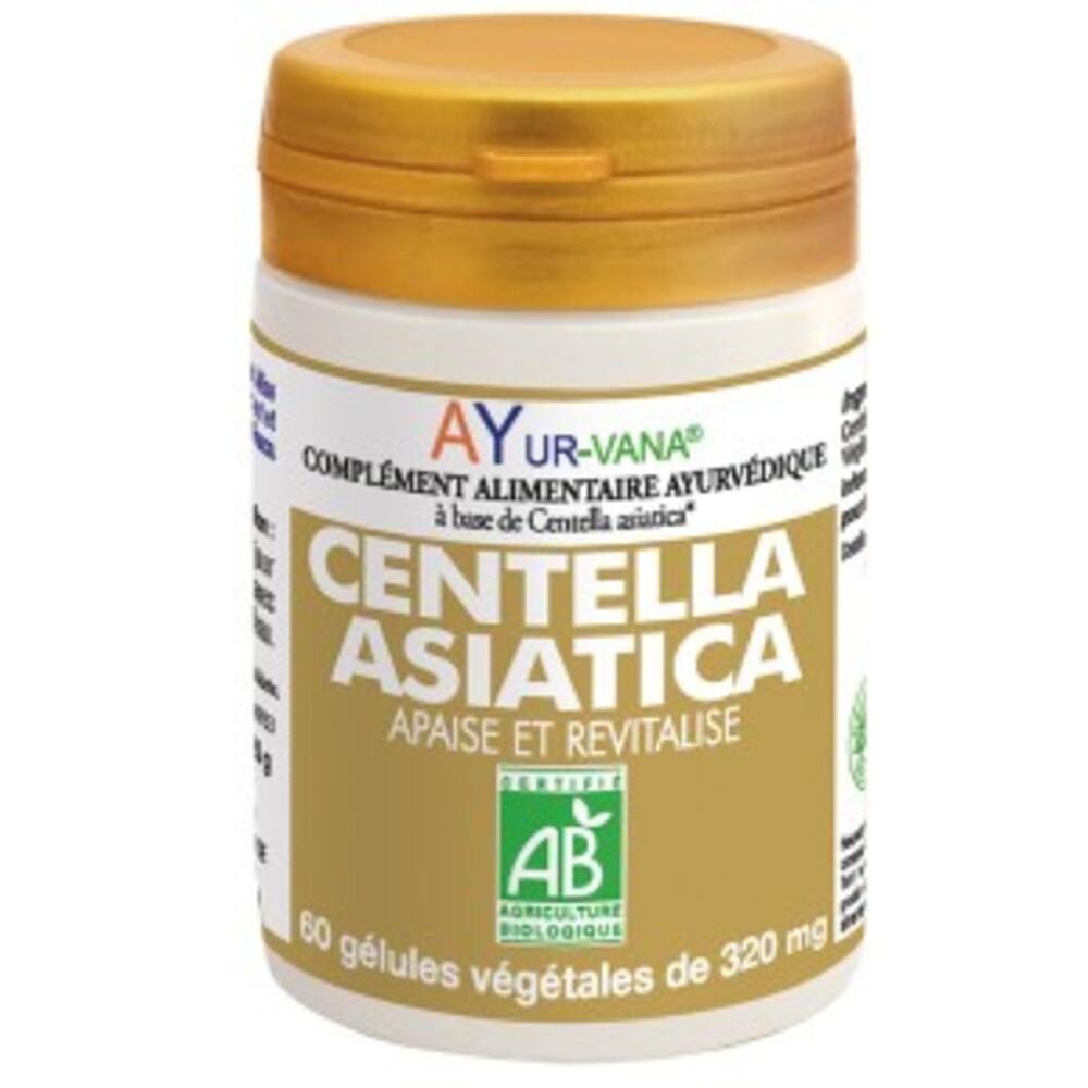 Centella asiatica bio - flacon 60 gélules végétales - divers - ayur-vana -133595