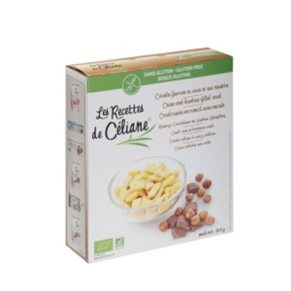 Céréales fourrées cacao noisette bio - 300 g - divers - les recettes de celiane -140569