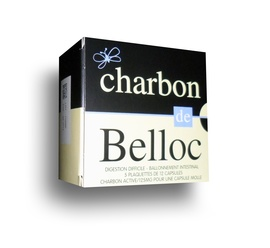 Charbon de belloc 125mg - 60 capsules - super diet -192816