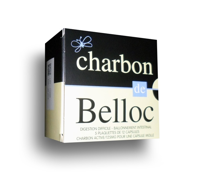 Charbon de belloc 125mg - 60 capsules Super diet-192816