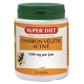 Charbon végétal activé - 150 gélules - 150.0 unites - les super nutriments - super diet Ballonnements-4470