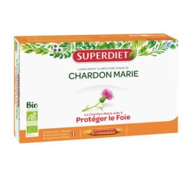 Chardon marie - 20 ampoules - 20.0 unites - digestion - super diet -138999