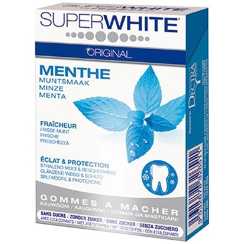 Chewing-gum fraîcheur intense menthe sans sucre 16 drégées Superwhite-198980