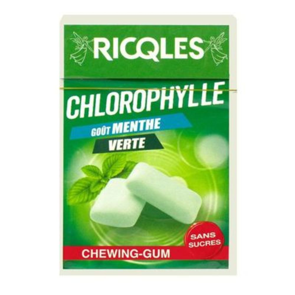 Chlorophylle chewing-gum menthe verte 29g Ricqles-214385