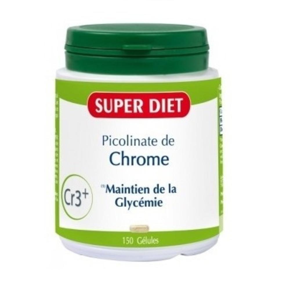 Chrome - 150 gelules - 150.0 unites - les super nutriments - super diet -125775