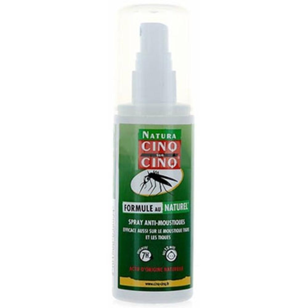 Cinq sur cinq natura spray anti-moustiques - 100ml - cinq sur cinq -205068