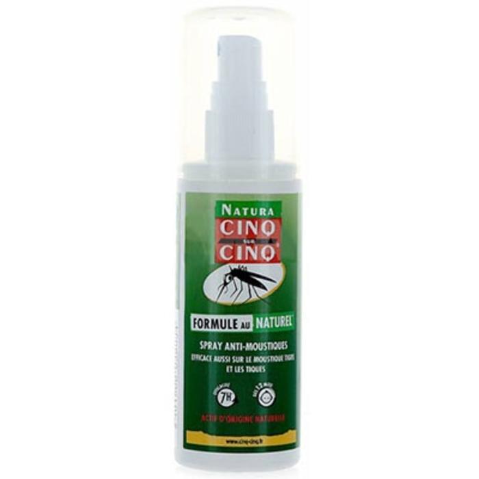 cinq sur cinq natura spray anti moustiques 100ml prix. Black Bedroom Furniture Sets. Home Design Ideas