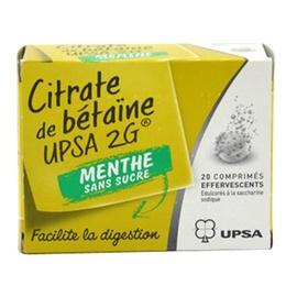 Citrate de bétaïne  2g menthe sans sucre - upsa -192520