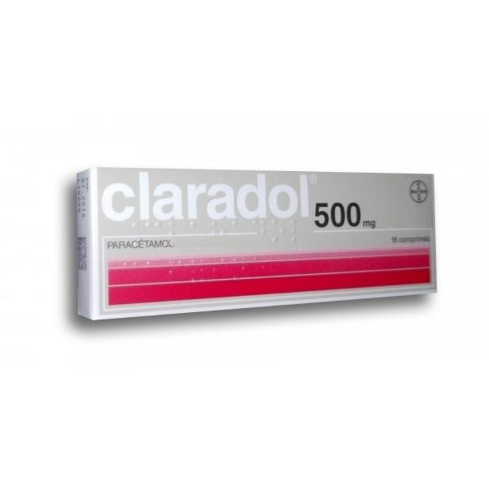 Claradol 500mg - 16 comprimés Bayer-192175