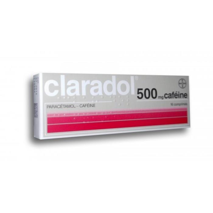 Claradol 500mg caféine - 16 comprimés Bayer-192361