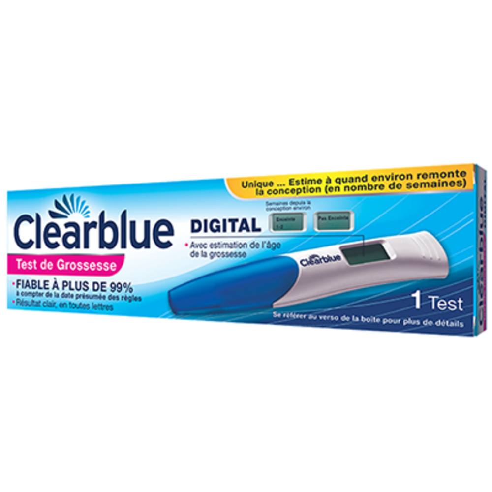 Clearblue test de grossesse digital - clearblue -145797