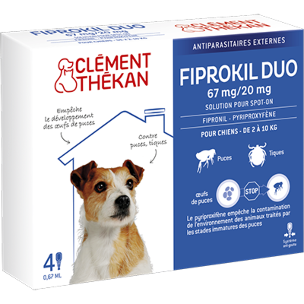 Clement thekan fiprokil duo chien 2-10kg - clement-thekan -205119