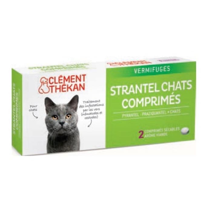 Clement thekan strantel vermifuge chats - 2 comprimés Clement thekan-146697
