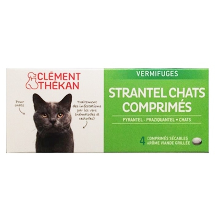 Clement thekan strantel vermifuge chats - 4 comprimés Clement thekan-146696
