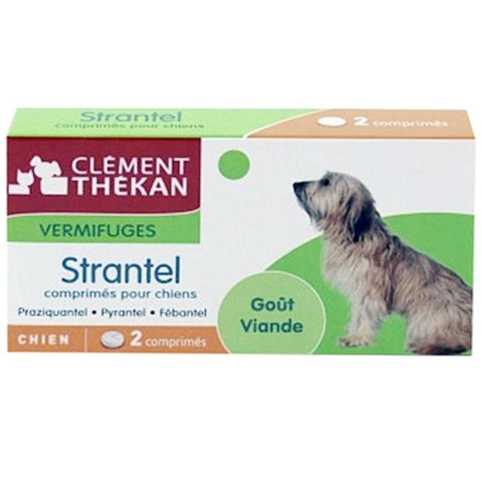 Clement thekan strantel vermifuge chien - 2 comprimés Clement thekan-190389