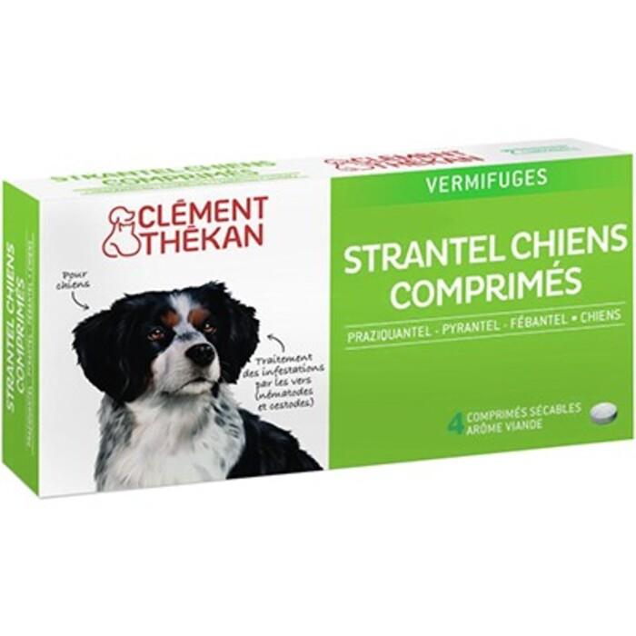 Clement thekan strantel vermifuge chien - 4 comprimés Clement thekan-190390