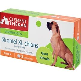 Clement thekan strantel vermifuge chiens xl - 2 comprimés - clement-thekan -146398