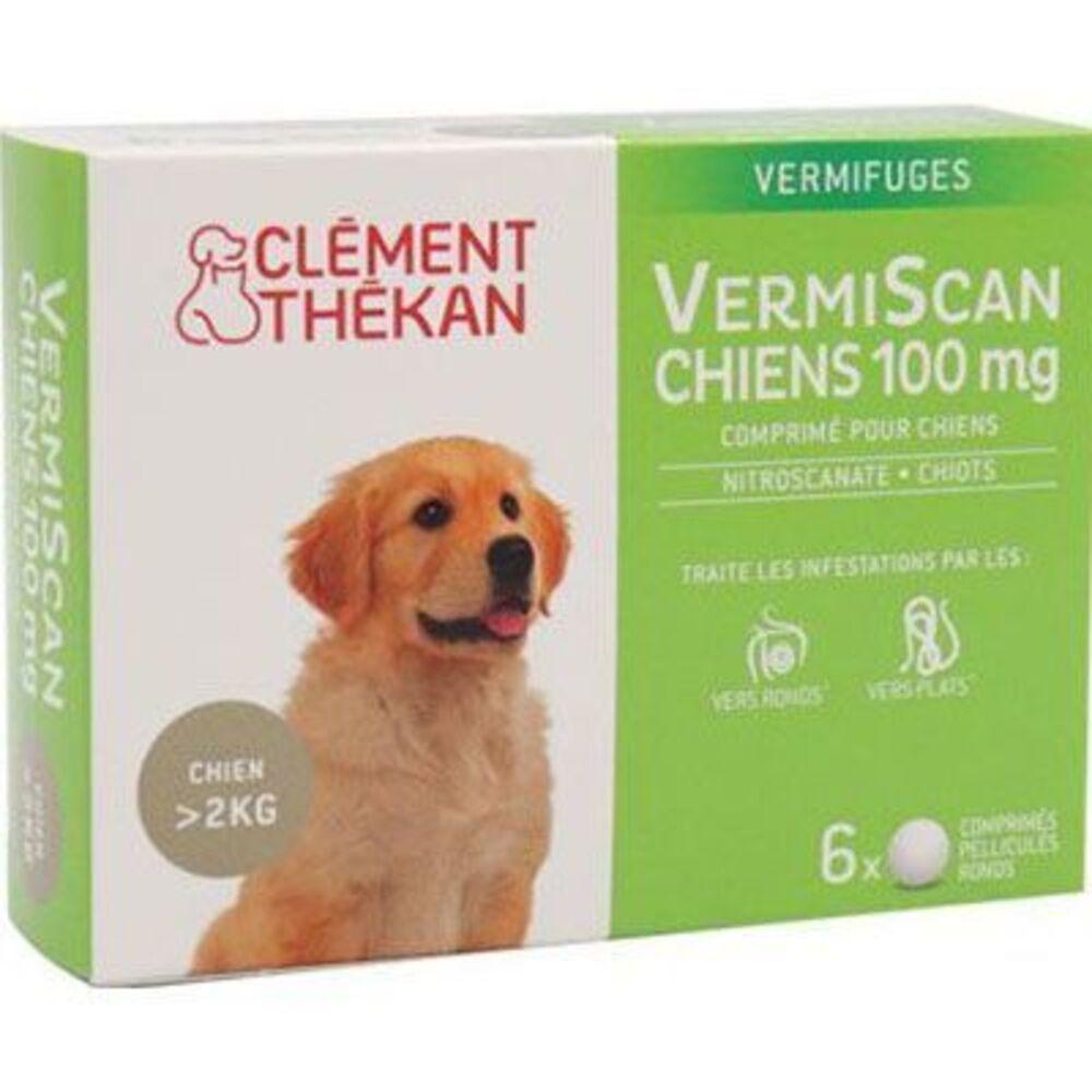 Clement thekan vermiscan chiens 100mg 6 comprimés - clement-thekan -226019