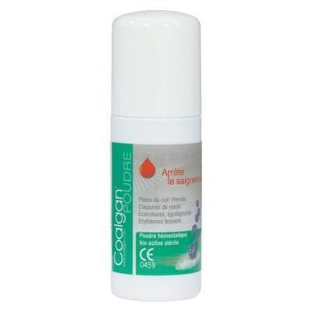 Coalgan poudre hémostatique bio-active stérile 8g - 8.0 g - coalgan -147689