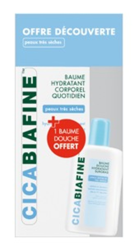 Coffret baume corporel  + baume douche 60ml offerte (1.0 unites) - 200.0 ml - dermo-cosmétique - cicabiafine -125577