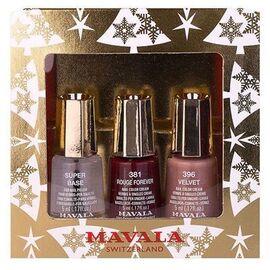 Coffret doré 3 mini color vernis à ongles crème 5ml - mavala -223587