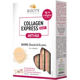 Collagen express bar au chocolat blanc 6 barres - biocyte -224300